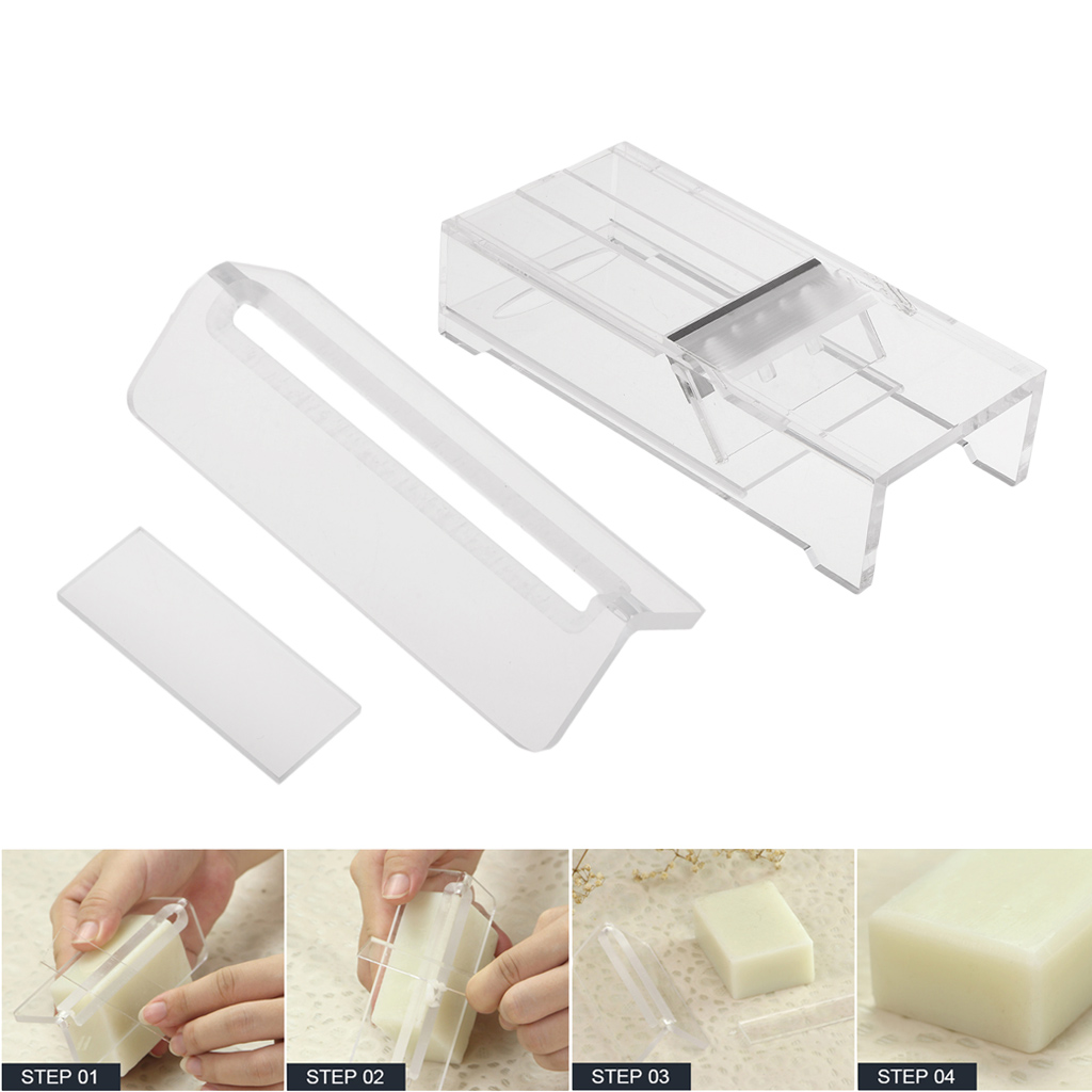 2 Pieces Easy To Use Acrylic Soap Beveler Soap Planer Handmade Candle Soap Edge Trimmer Smoothing Soap Making Supplies
