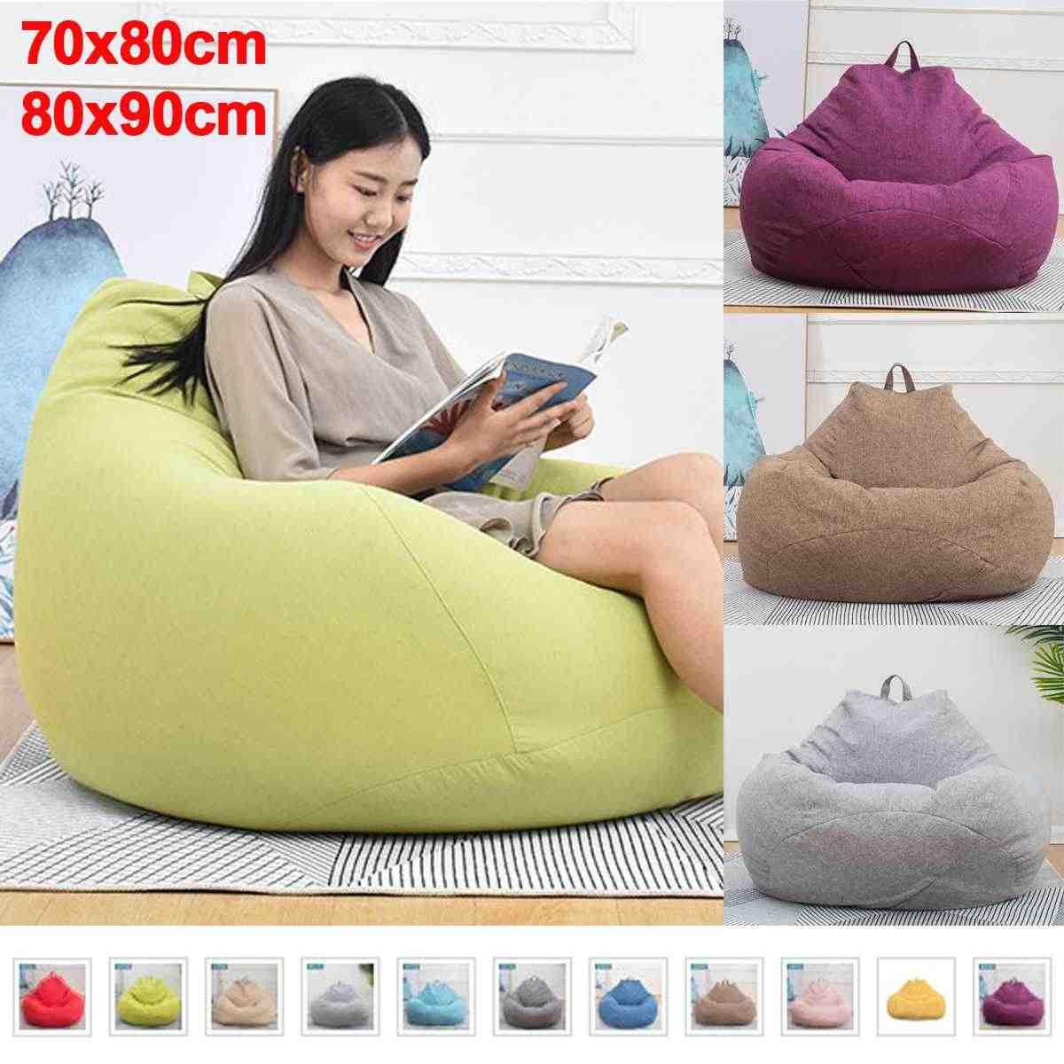 BeanBag preguiçoso Sofás Stuffed Animal Toy Armazenamento Revestimento Interno Impermeável Cadeira do Saco de Feijão sem Cobertura Beanbag Sofás Forro Único
