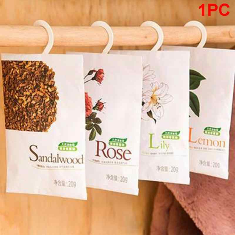 Natural Flower Plants Fresh Air Scented Fragrance with Hang Hook Home Wardrobe Drawer Car Sachet Remove odor Air Freshener &1