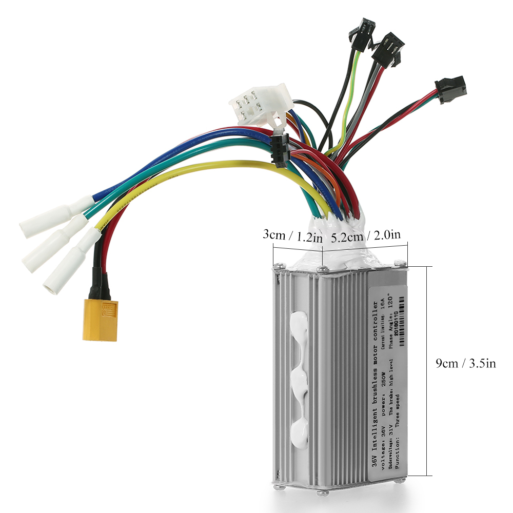 36V-250W 48V-350W Brushless Motor Controller for Electric Bike Bicycle Scooter