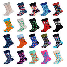 LIONZONE Fashion Hip Hop Cartoon Men Socks Desinger Personality Skateboard Breathable Happy Calcetines Hombre