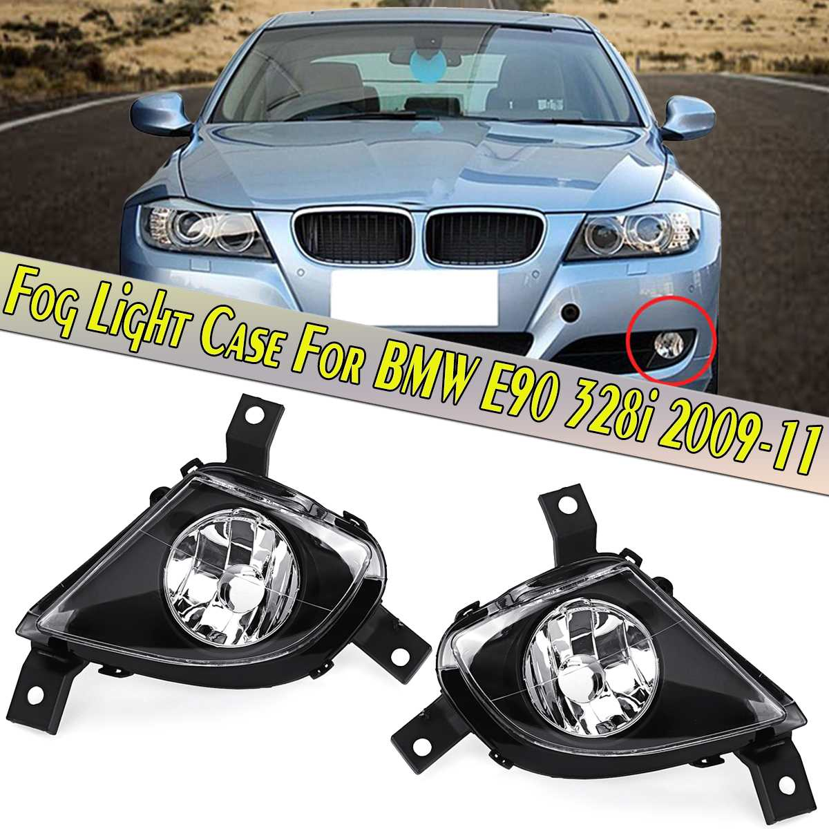 Left /& Right LED Front Fog Light Lamps For BMW 3 Series E90 E91 Saloon 2005-2008