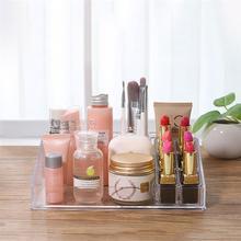 OUNONA Makeup Storage Box Desktop Lipsticks Display Stand Transparent Cosmetic Organizer Holder Cosmetic Display Stand Organizer недорого