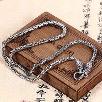 2018 Новая акция для мальчиков каменные ожерелье Моана колье Jia Shun Man ожерелье Классический 925 двойной кран Популярные тайские цепи аксессуары