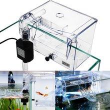Clear Fish Tank Breeding Hatchery House Incubator Aquarium Transparent Breeder Isolation Hanging Box Reptile Turtle Cage Pump