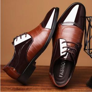 Image 5 - Mode Oxford Business Mannen Schoenen Lente Herfst Lederen Hoge Kwaliteit Zacht Toevallige Ademende Mannen Flats Zip Schoenen