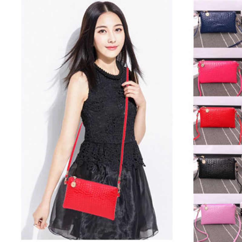 2019 neue Marke Mode Kleine Und Einfache Frauen Leder Schulter Tasche Geldbörse Handtasche Messenger Umhängetasche