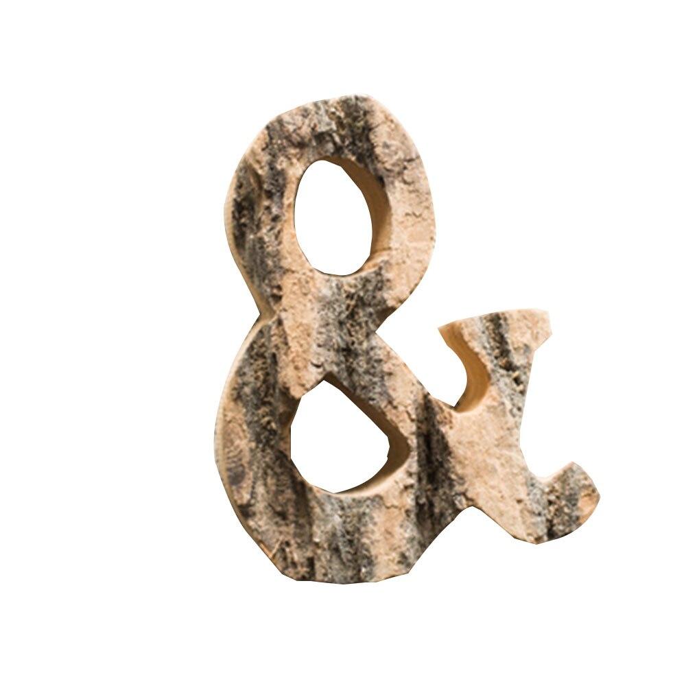 Natuurlijke Houten Handgemaakte Hoofdstad Engels Letters Vintage Houten Diy Ambachten Tafel Desktop Decor Muur Achtergrond Ornamenten