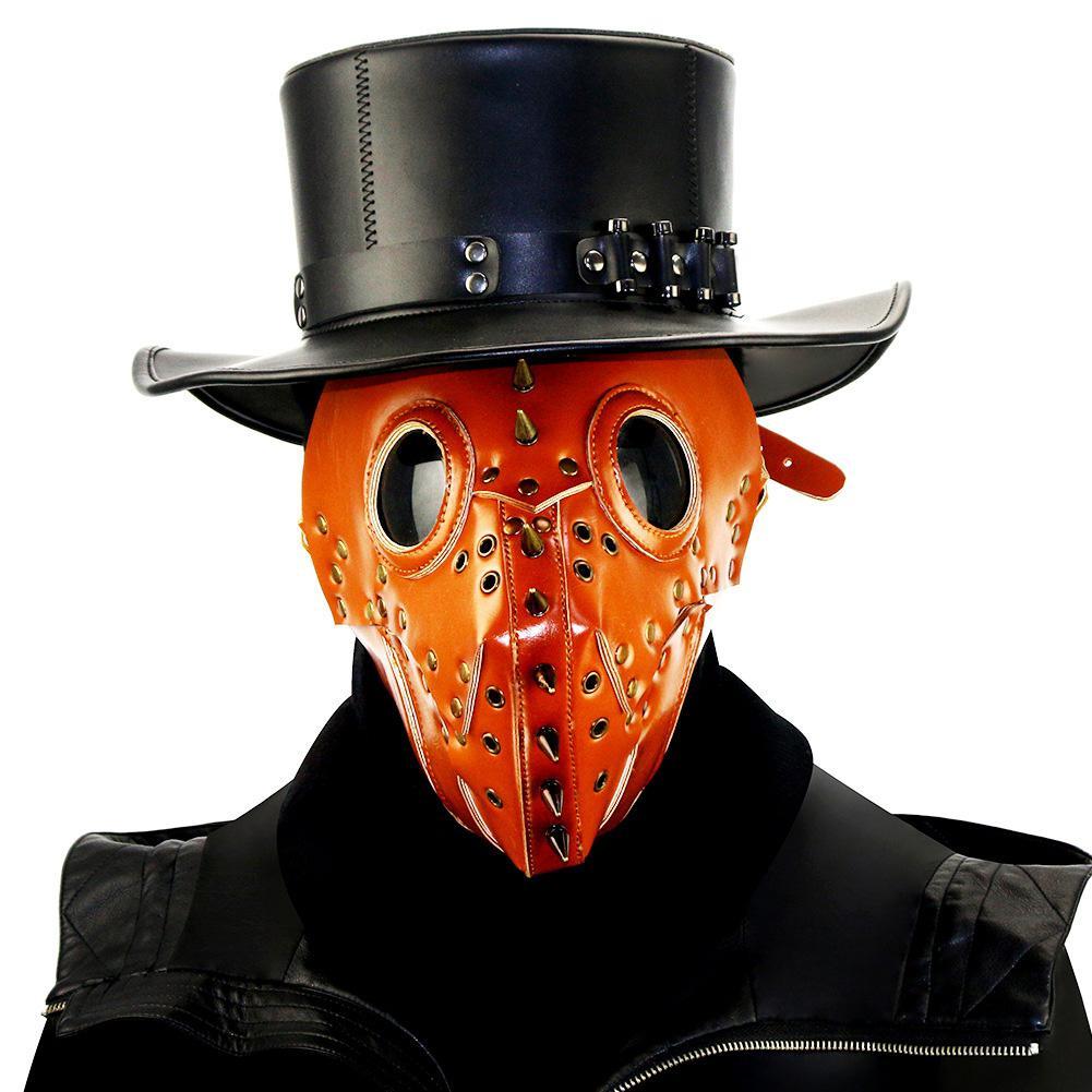 MISSKY Halloween PU máscara Doctor Cosplay Steampunk máscara fiesta traje accesorio Accesorios