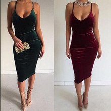 2018 Spring Summer Plunging V Neck Strap Dress Plunging  Neck Nightclub Sexy Back Cross Party  Dresses Vestiti Donna Ez* цены