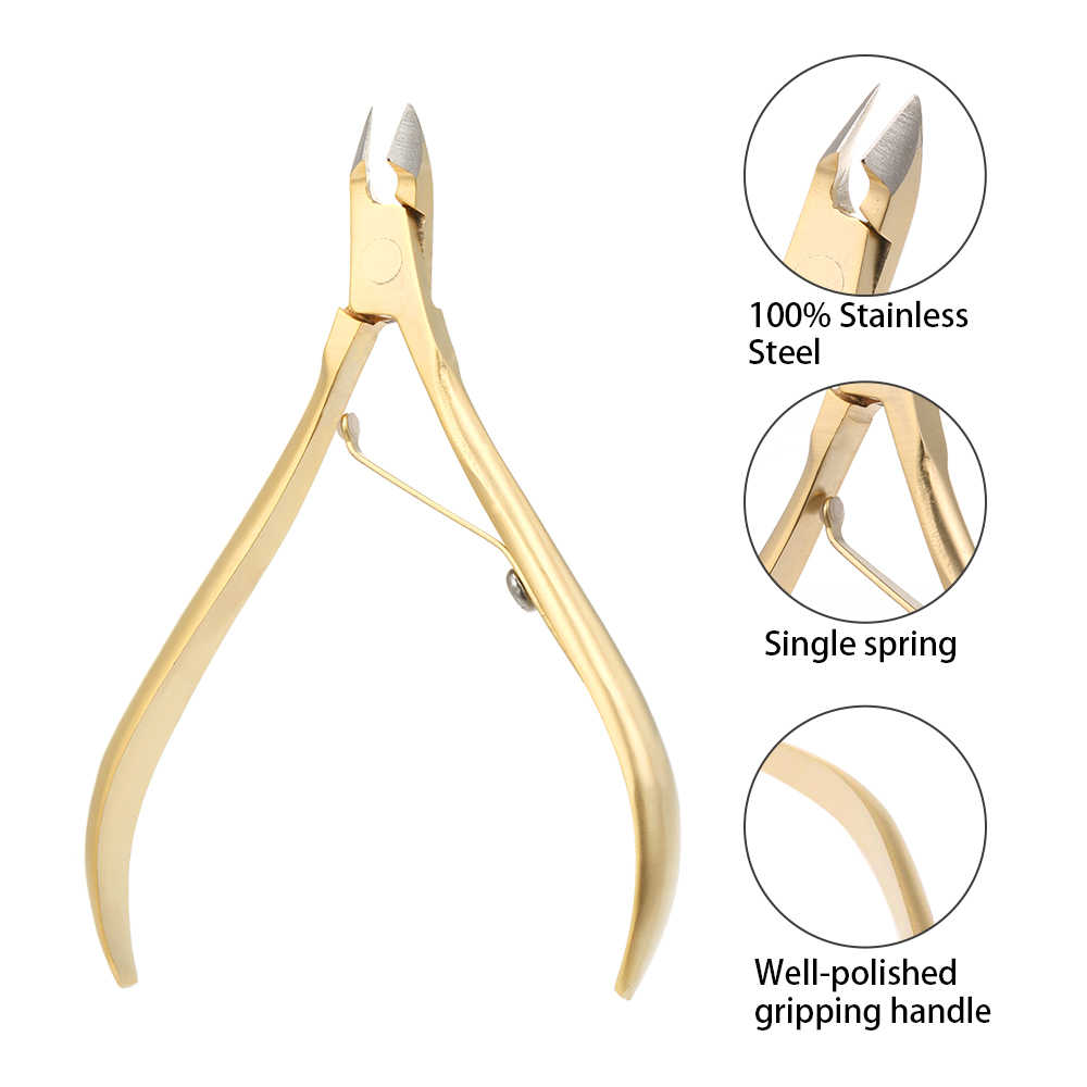 Professional Nail Clipper Nippers for Dead Skin Removal Stainless Steel Cuticle Scissors Nippers