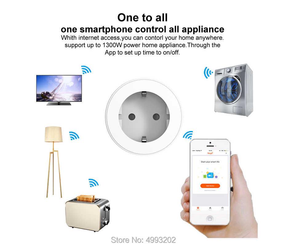 Inteligentna wtyczka wsparcie ue Amazon Alexa Google domu, IFTTT pilot zdalnego sterowania przełącznik WiFi Mini gniazdo z funkcją pomiaru czasu