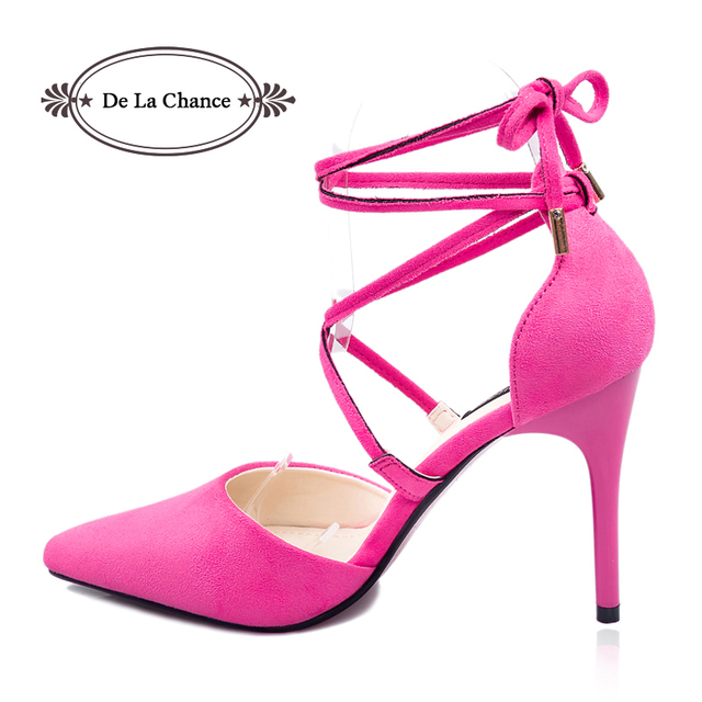 dc0666c94d70 Sexy Black Pink Grey Strappy Stiletto High Heels Red Bottom High Heels  Women s Shoes With Heels