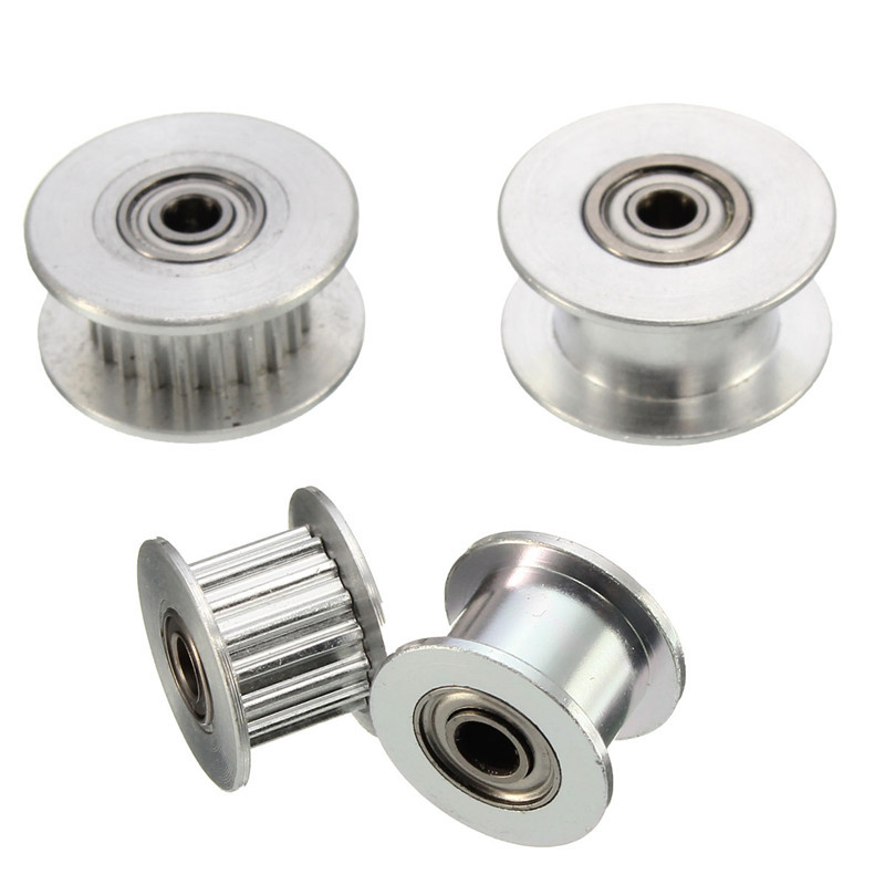 16T/20T Tooth GT2 Belt Idler Pulley 6mm Belt Smooth Idler Pulley With Bearing For 3D Printer Accessories