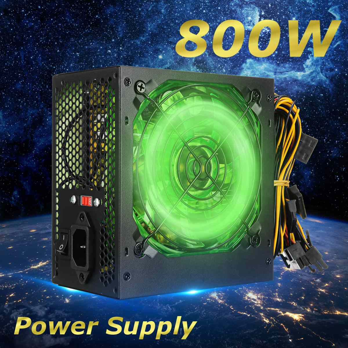 800W 110~220V PC Power Supply 12cm LED S ilent Fan with Intelligent temperature control Intel AMD ATX 12V for Desktop computer800W 110~220V PC Power Supply 12cm LED S ilent Fan with Intelligent temperature control Intel AMD ATX 12V for Desktop computer