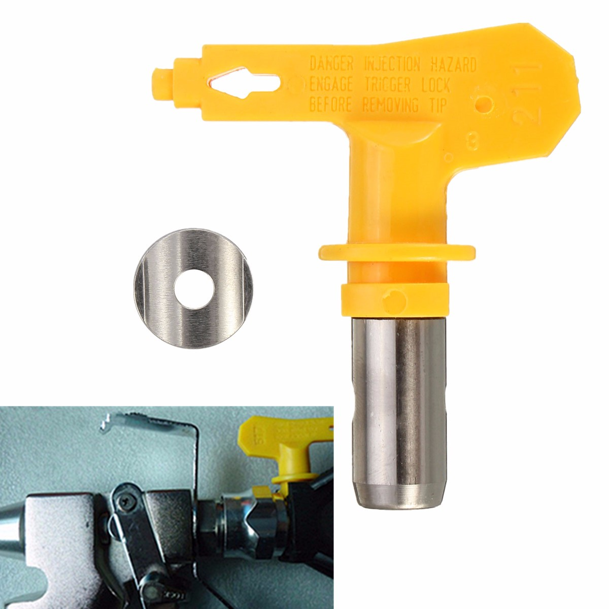 Yellow 2 Series 213/215/217/221/211 Airless Spray Tip Sprayer Nozzles For Airless Spray Paint Sprayer