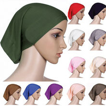 Новейший исламский мусульманский женский головной платок, хлопковый шарф, хиджаб, накидка на голову, капот, простые хиджабы
