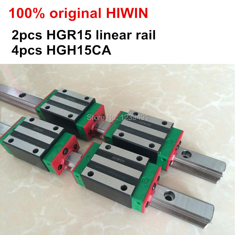 2pcs 100% original HIWIN linear guide HGR15 - 550 600 650 700 750 800mm with 4pcs linear carriage HGH15CA or HGW15CA CNC parts wifi gas boiler heating thermostat black ac220v wifi temperature regulator for boilers weekly programmable