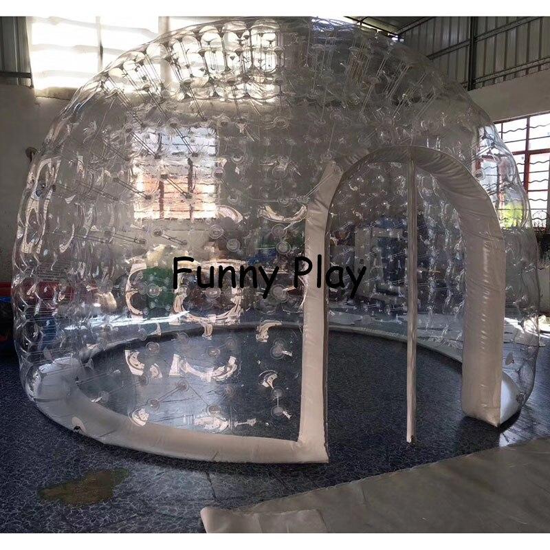Надувная герметичная палатка для кемпинга, полупрозрачная половина черного пузырчатого домика для отелей, Семейный Кемпинг, реклама на зад...