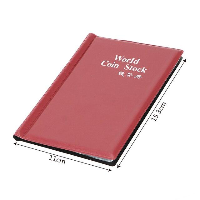 La raccolta di Denaro Organizzatore 120 Tasche Monete Collezione di Album Libro per il Collettore Della Moneta Titolare Album Mini Penny Coin Sacchetto di Immagazzinaggio 6