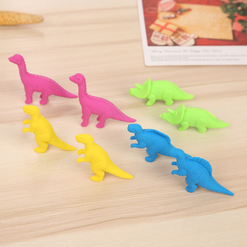 Pens, Pencils & Writing Supplies 2pcs/lot Kawaii Dinosaur Eraser Pure Color Animal Rubber Soft Erasers Correction Tools For Kids Gifts School Stationery Supplies