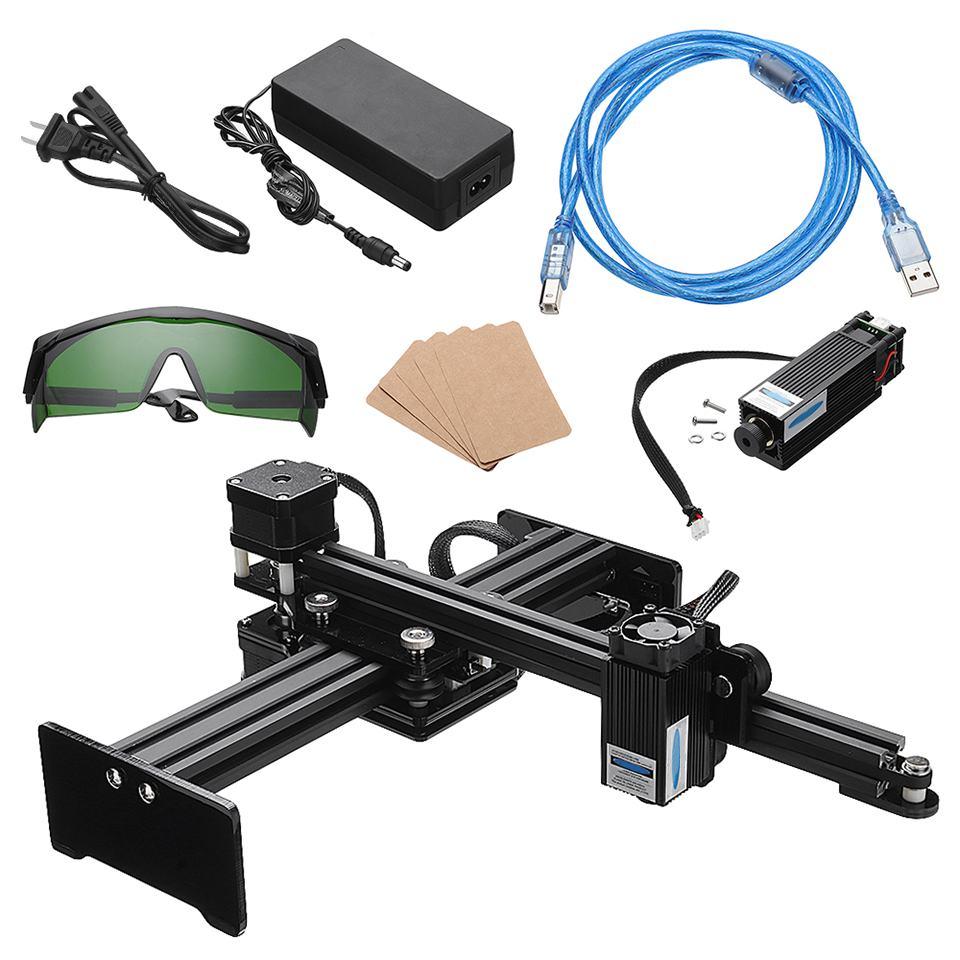 1600/3500mW Mini Assembly CNC Laser Engraving Machine Pro DIY Logo Mark Printer Desktop Wood Router Cutter Engraver +Goggles1600/3500mW Mini Assembly CNC Laser Engraving Machine Pro DIY Logo Mark Printer Desktop Wood Router Cutter Engraver +Goggles