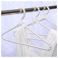 Искусственный жемчуг бант одежда вешалки крюк для детей дети бант белый