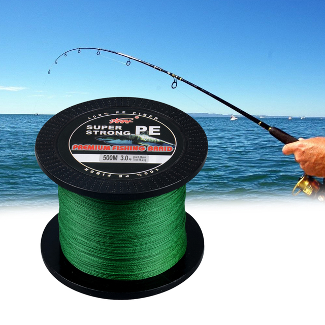 Special Offers 500m PE Durable Fishing Hook Line Braided Carp Fishing Line Rolling Fishing Rope Wire Hair Rigs Fishing Accessories (5.0 Green)