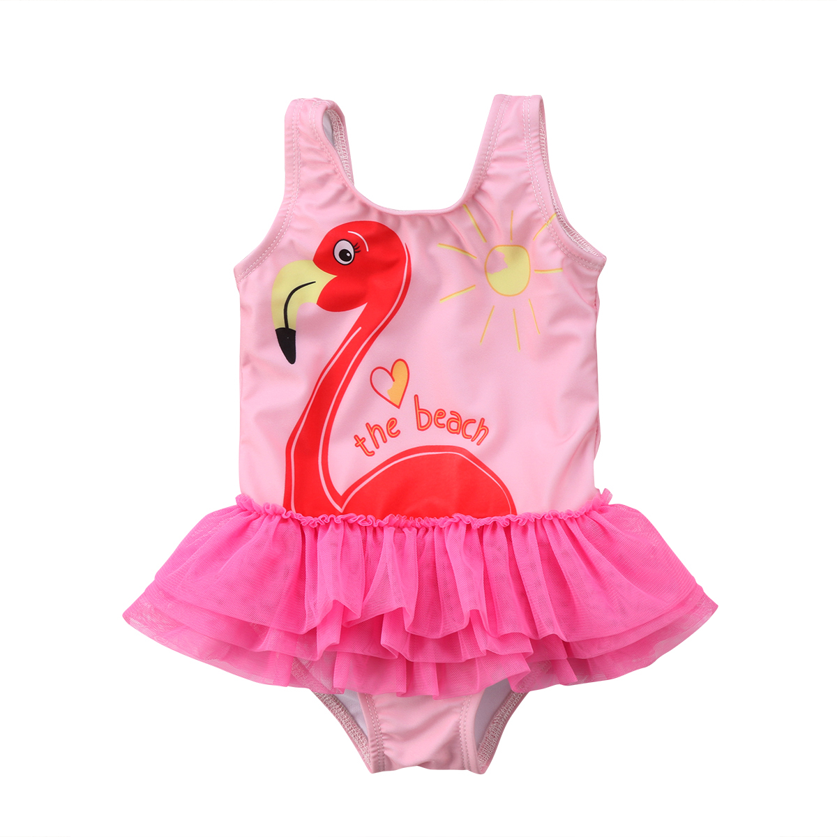 Hot Adorable Toddler Kids Baby Girls Flamingo Bikini Swimwear One-Piece Bathing Suit Beachwear Bodysuit