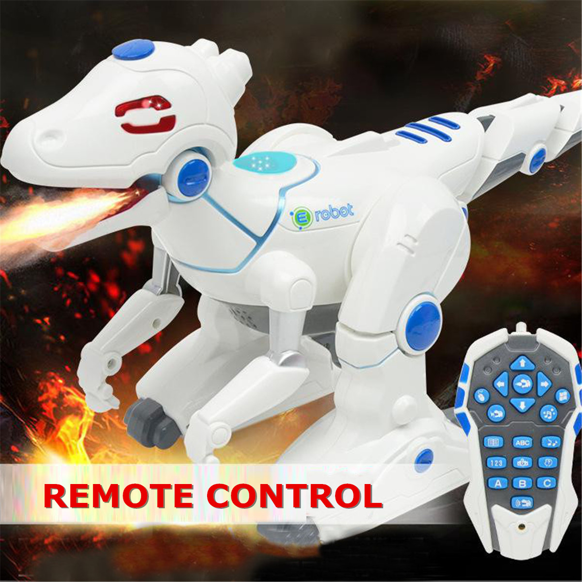 Remote Control Smart Dinosaur Robot Electronic Walking Singing Dancing Sound Light Toys Educational Toys Kids Gift Rechargeable