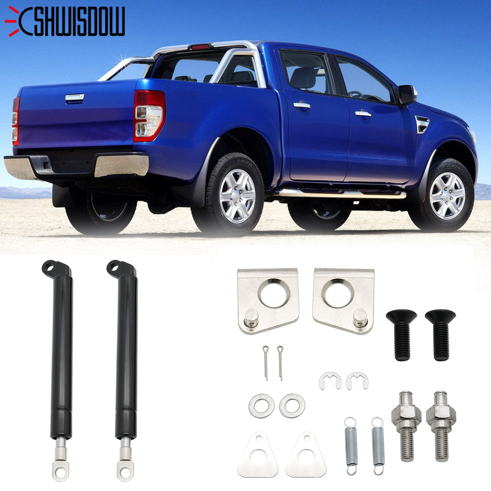 1Pair Spring Steel Tailgate Slow Down & Easy Up Strut Set for FORD RANGER T6 Year 2012-2016 and MAZDA BT50(China)