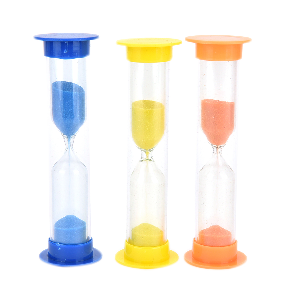 1 2 3 Mins Random Color Hourglass Sandglass Sand Cook Clock Timer Home Decoration in Hourglasses from Home Garden