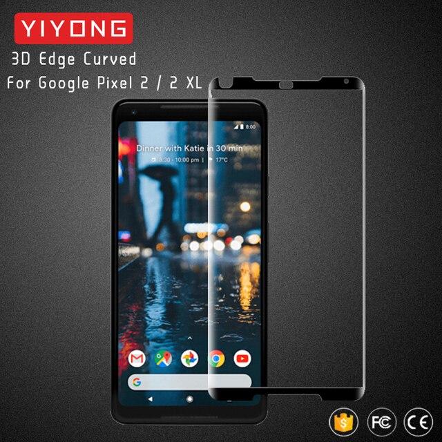 YIYONG 3D Borda De Vidro Curvo Para 2 XL Protetor de Tela De Vidro Temperado Para Google Google Pixel Pixel 3 XL Pixel2 2XL Pixel3 Vidro