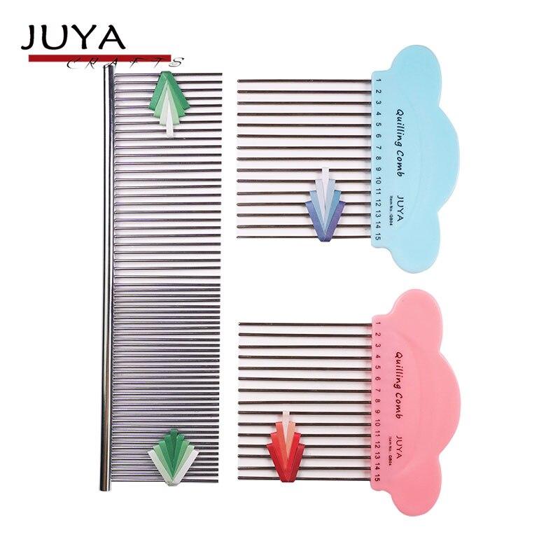 JUYA Quilling peigne, 2 styles, bleu et rose est style traditionnel, 2 fonctions peigne est nouveau.JUYA Quilling peigne, 2 styles, bleu et rose est style traditionnel, 2 fonctions peigne est nouveau.