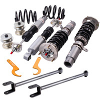 For BMW 3 Serie E46 Coilover 98-05  328 320 M3 Adjustable Height Top Mounts Suspension Strut  damper Conrold arms Spring