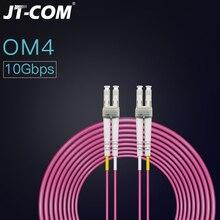 OM4 40Gbps 100G Fiber optik yama kablosu LC LC 1m 2m 3m 5m 10m 15m 50/125 2mm 2 çekirdek Multimode dubleks Fibra optik yama kablosu