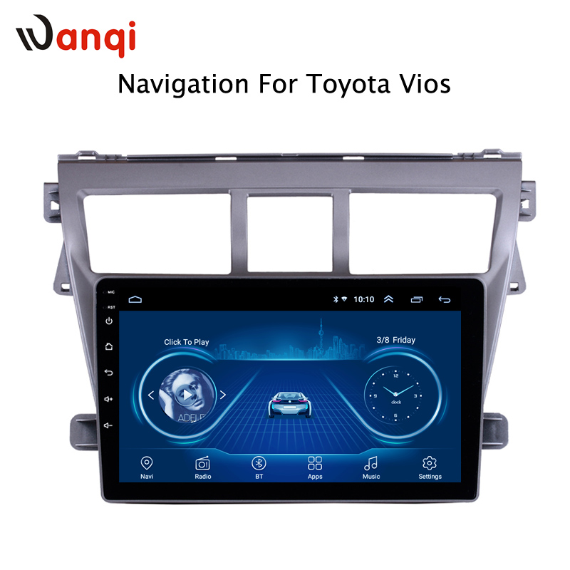 Android 8.1 Car DVD Multimedia Player GPS For Toyota Vios YARIS 2008 2013 audio radio stereo navigation