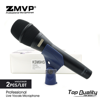 2pcs/lot Top Quality KSM9 Professional Live Vocals KSM9HS Dynamic Wired Microphone Karaoke Supercardioid Podcast Microfono Mic