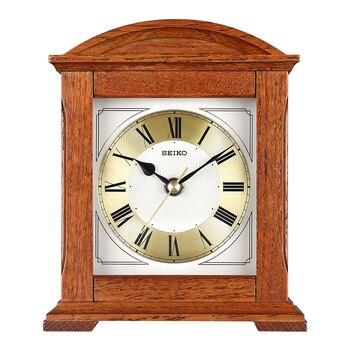 SEIKO 8inch Solid Wooden Frame Non-ticking Desk Clock Silent Quartz Movement Europe style Table Clock