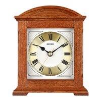 SEIKO 8inch Solid Wooden Frame Non ticking Desk Clock Silent Quartz Movement Europe style Table Clock