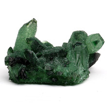 Green crystal cluster home lucky town house evil spirits ornaments original stone degaussing Feng Shui transshipment