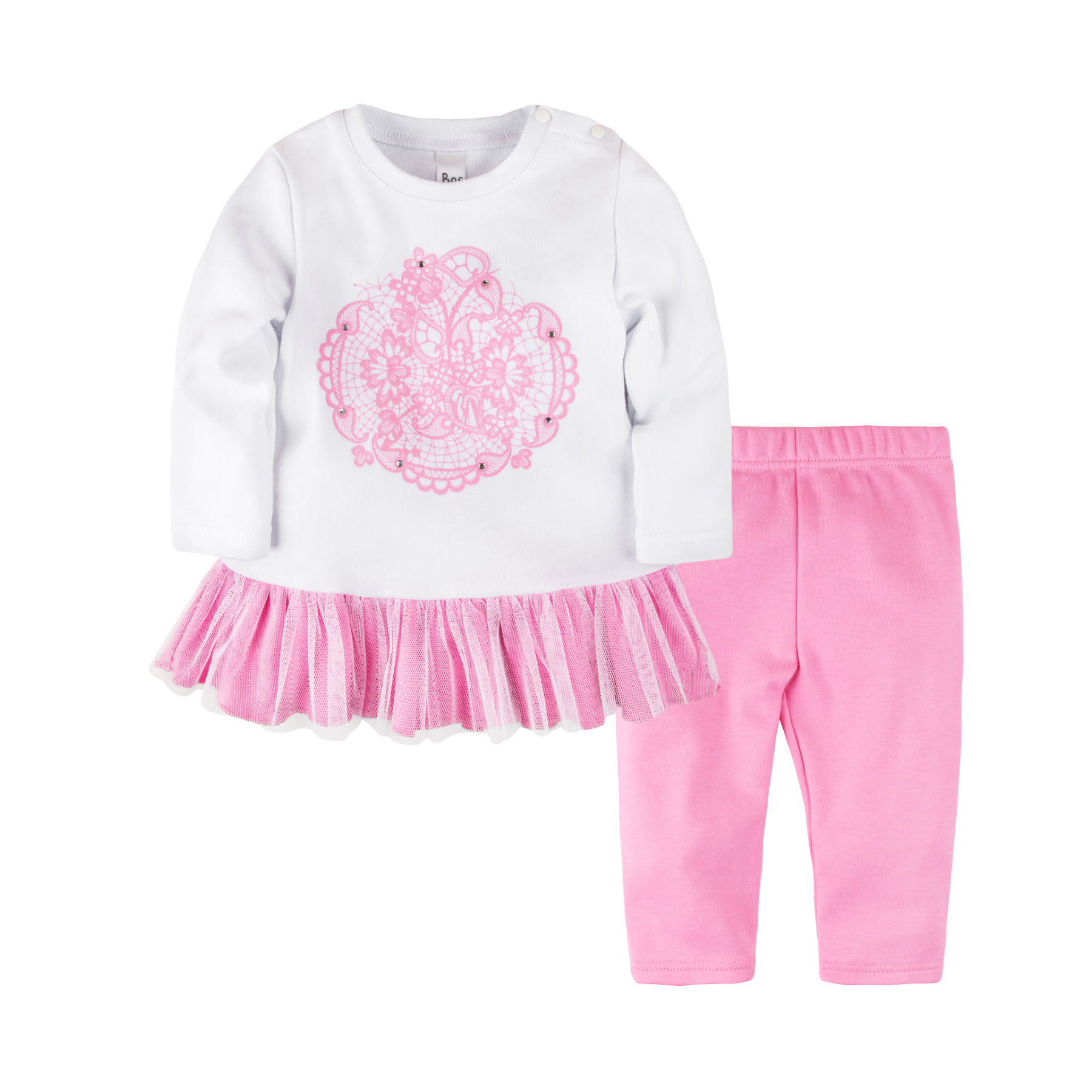 Baby's Set of tunic + leggings for girls BOSSA NOVA 085B-351 kid clothes children clothing rose print tunic dress