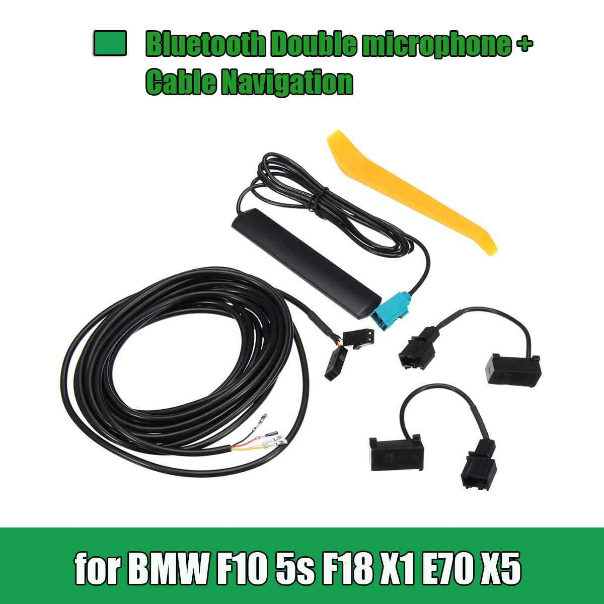 12/13/25/26 Pin bluetooth Double Microphone Car GPS Navigation Cable DIY  Set For BMW F10 5S F18 X1 E70 X5