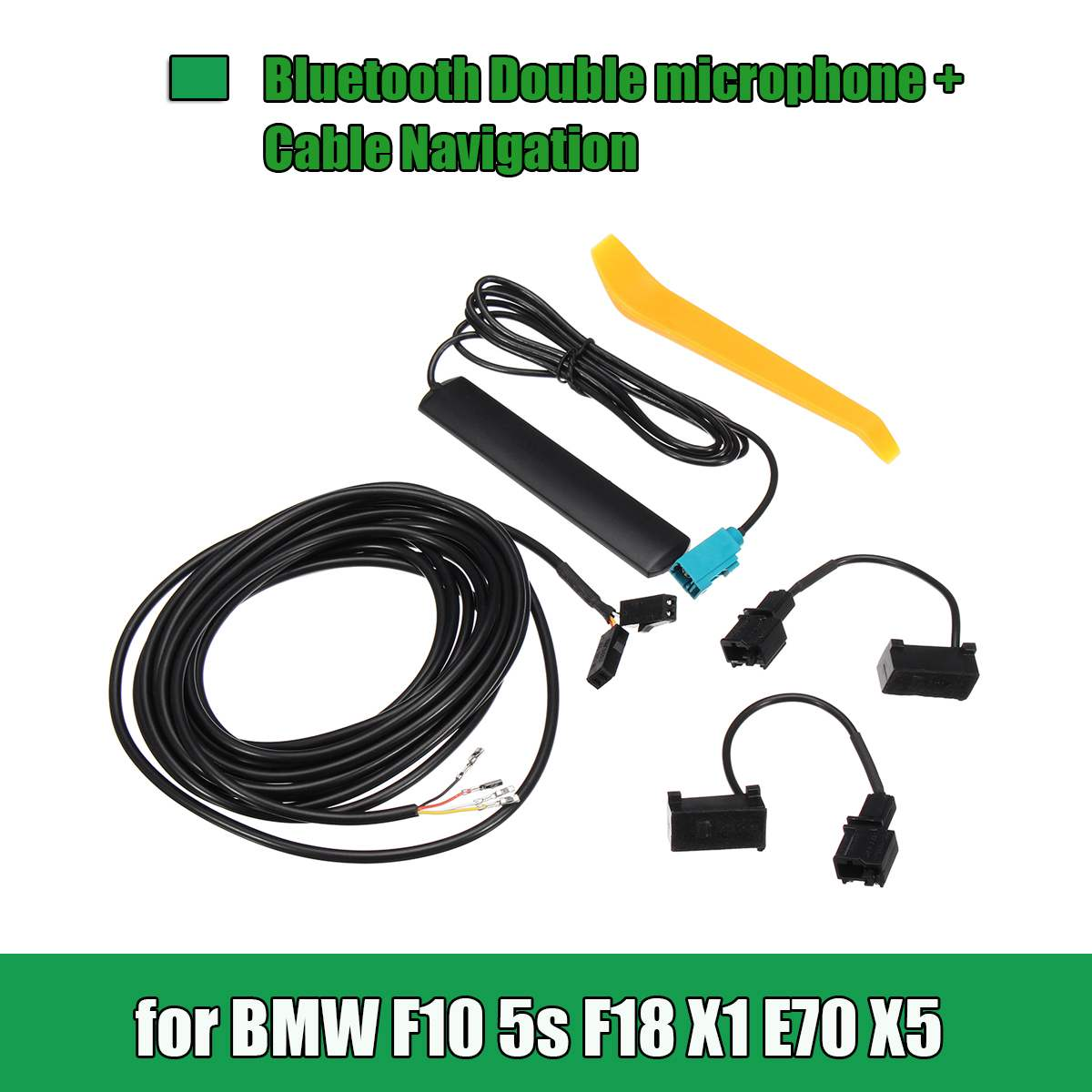 12/13/25/26 Pin <font><b>bluetooth</b></font> Double Microphone Car GPS Navigation Cable DIY Set For <font><b>BMW</b></font> F10 5S F18 X1 <font><b>E70</b></font> <font><b>X5</b></font> image