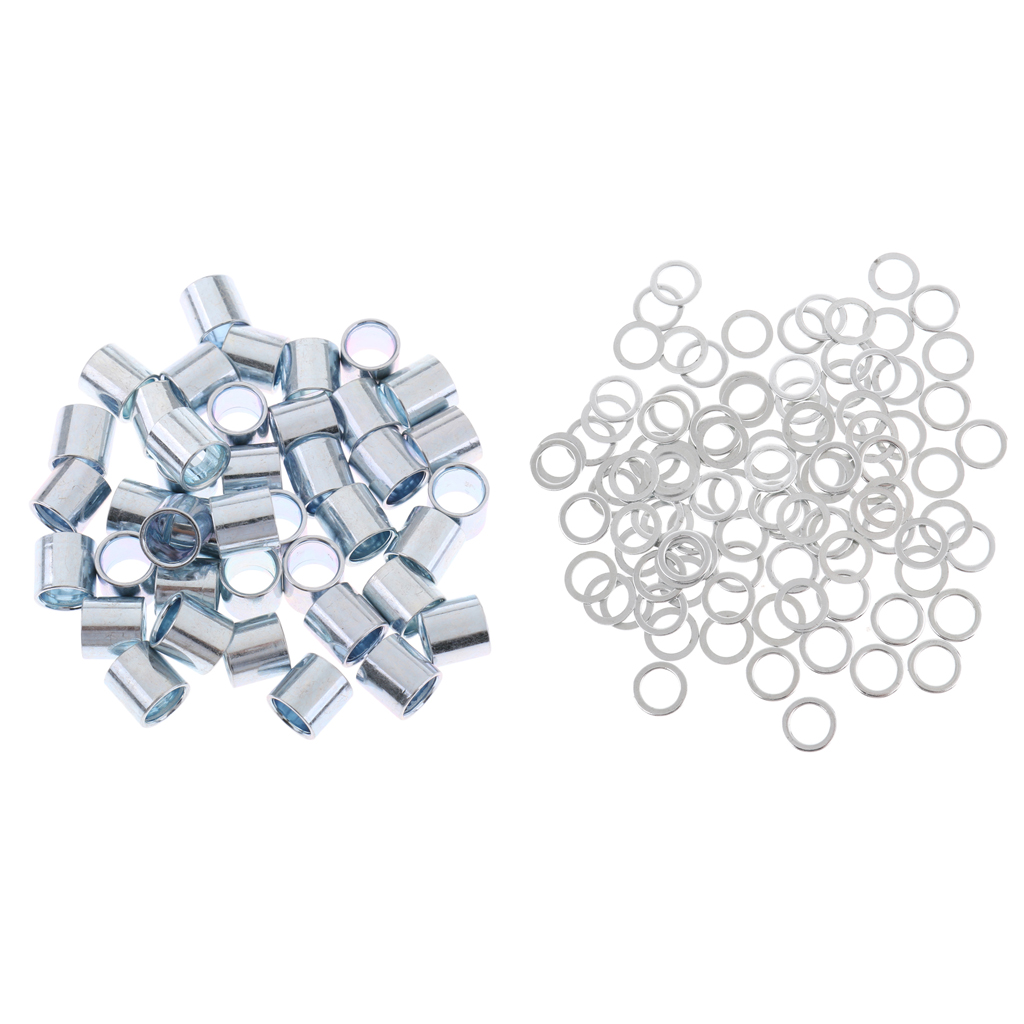 Replacement Skateboard Longboard Repair Rebuilding Kit 100 Pieces Bearing Spacers + 40 Pieces Speed Washers