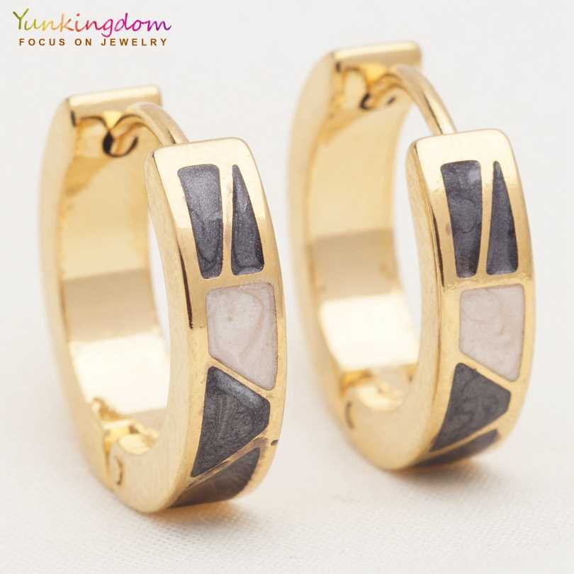 Yunkingdom new rock style earrings stainless steel titanium hoop earrings for women Teen girls accessories UE0315