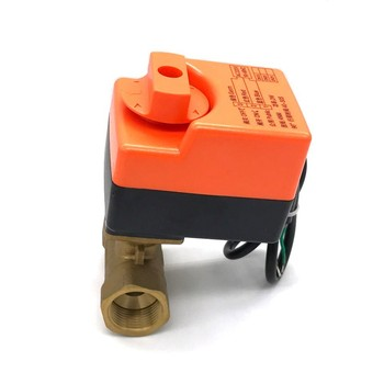 DN20(G 3/4) AC220V electric actuator brass ball valve,Cold&hot water/Water vapor/heat gas 2 way Brass Motorized Ball Valve