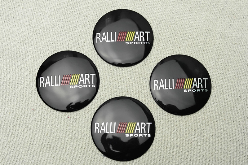 4 Pz Per Il Nero Ralli Art In Lega Di Alluminio Auto Del Centro Di Rotella Caps Sticker Emblemi Acquista One Give One