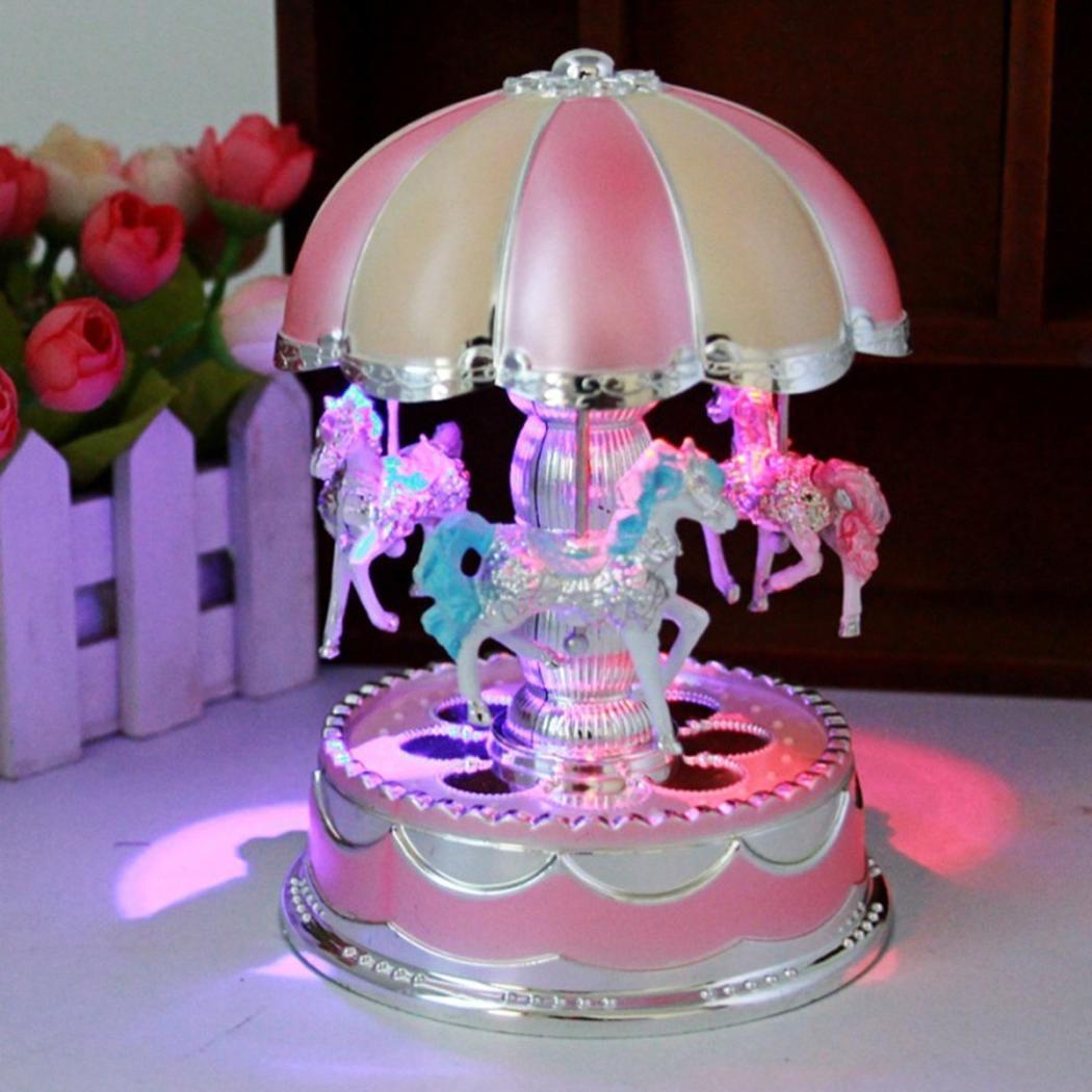 Glow Glow Christmas Party Home etc LED Music Beautiful Wedding Light Merry Go Round Birthday Box Decoration Playback