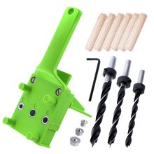 Pocket Hole Jig Handheld Dowel Jig Abs Plastic Woodworking Jig For 6 8 10Mm Dowel Joints Drilling Guide Tools woodworking drilling positioner boring vertical fixtures dowel punchers locators power tools